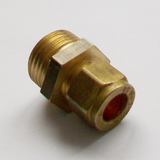 Brass Compression 10mm x 1/2 inch Male Iron - 24421002